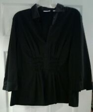 New York & Company Stretch Women's Top Shirt Size XL Black Ladies Dress Top