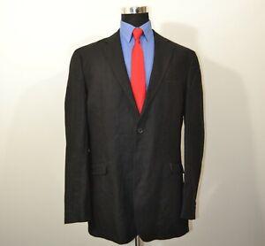 Joseph-Abboud-2XLT-Sport-Coat-Blazer-Suit-Jacket-Black-Linen-Blend