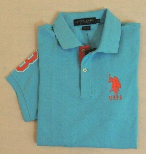 US Polo ASSN Big Pony Short Sleeves Striped-Collar Classic Mesh Shirt M L XL XXL