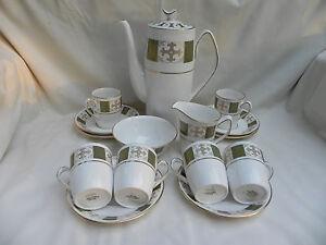 Spode Persia Y8018 Coffee Pot Set Cups Saucers Sugar Jug Ebay