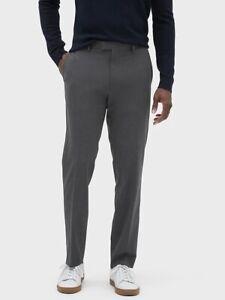 Banana-Republic-Men-039-s-Slim-Fit-Wrinkle-Resistant-Gray-Pinstripe-Pants-Size-34x32