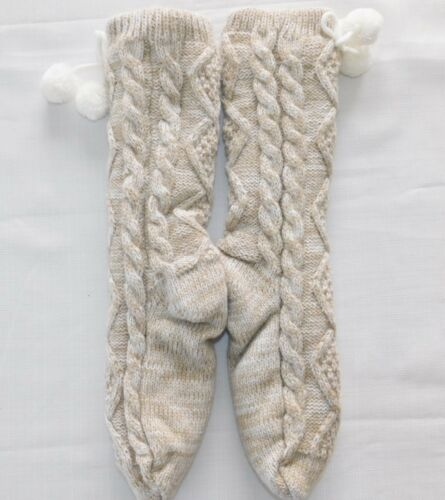 s O pile in calze 11 Pom 9 Crema Womens New Nwot foderato Ugg fEqwAZt