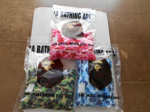 AUTHENTIC A BATHING APE BAPE ABC CAMO 2WAY NECK PILLOW GREEN BLUE PINK NEW