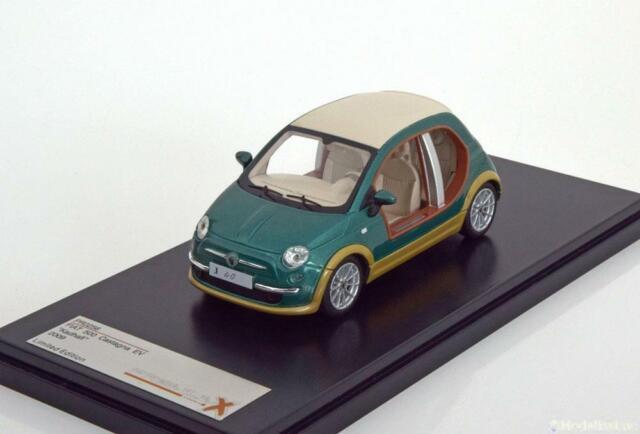 1:43 Premiumx Fiat 500 castagna ev kadhafi 2009 greenmetallic