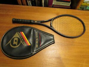 100% De Qualité Dunlop Noir Max Graphite Verre Raquette De Tennis - 4 1/2 (#4) Grip Taille-afficher Le Titre D'origine Quell Summer Soif