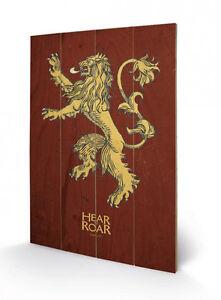 Game-of-Thrones-Holzdruck-Lannister-40-x-60-cm-NEU-amp-OVP