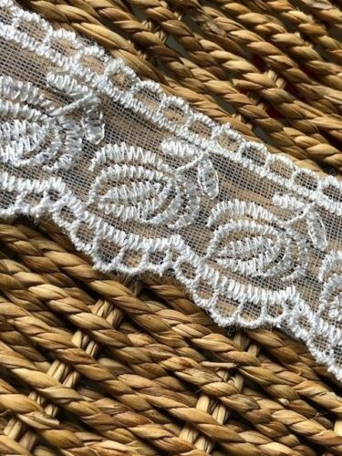 """laverslace Ivory Embroidered Tulle Lace Trim 1.5/""""// 3.75 cm Wedding Sewing Crafts"""