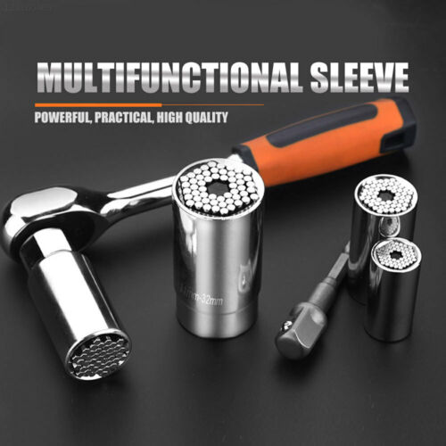 Magic Connecting Gator Universal Socket Wrench Sleeve Grip Power Drill Adapter