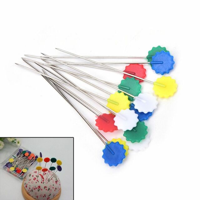 Sewing Accessories 100PCS Flower Pin Sewing Needles Patchworks Quilting Tool l