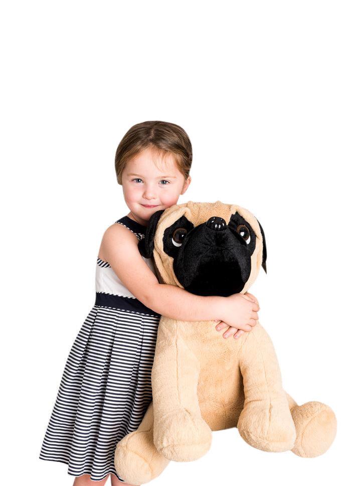 Huge Giant Extra Large Pug Dog Soft Toy Plush 60cm 20  Pugs and Kisses