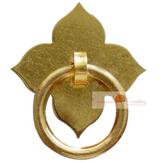 4set Furniture Brass Hardware Drawer Pull Cabinet Handle Door Ring 3 colors