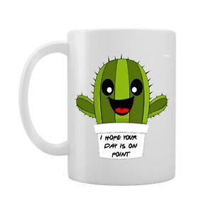 I Hope Your Day Is On Point - Cute Cactus Design - Gift Idea - Novelty Mug/Cup