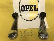 NEU SET CHROM Fensterkurbel passend für alle Opel Rekord C + Commodore A Modelle