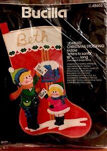 Bucilla Kiddie LETTERS TO SANTA Felt Christmas Stocking ...