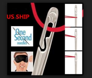 US-O-ne-Second-Needles-Self-Threading-Needles-Hand-Sewing-Repair-Set-of-12