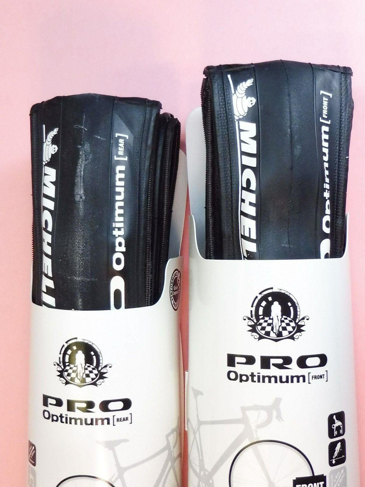 Two - Michelin Pro Optimum bicycle tyres 700x25 - NOS