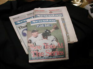 Yankees 1996 Pennant Win Oct 14-24-27 Newspapers