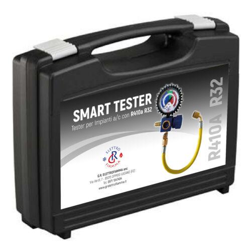 SMART TESTER GRUPPO MANOMETRICO GAS R410A R32  TEST VERIFICA RICARICA CLIMA PROF