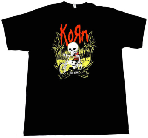KORN T-shirt Nu Metal Alternative Rock Mens Adult Tee Men  Black New