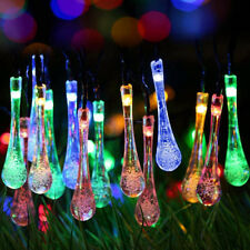 Outdoor Solar Powered 20 LED String Light Garden Path Yard Landscape Lamp Decor Colorful 20led