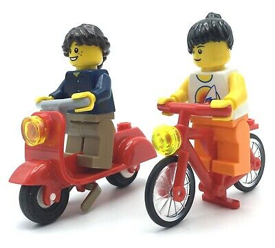 Free Postage Genuine Lego Minifig Bicycles x 3 Brand New Yellow