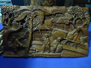 Hand Carved Wall Decor Wood Carving