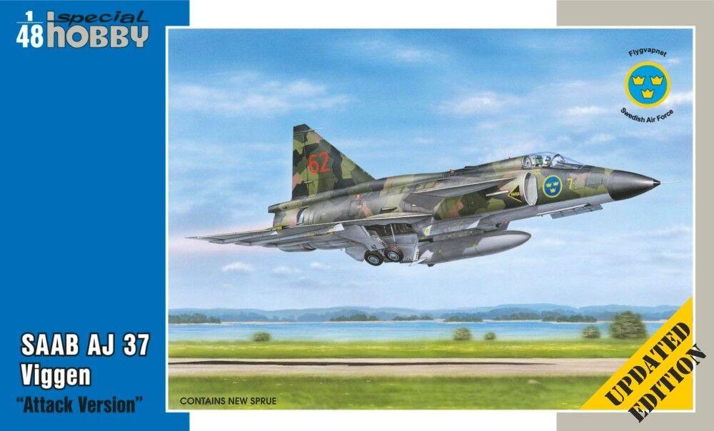 Special Hobby 1/48 Saab Aj-37 Viggen   Attacco Versione   Aggiornato Edizione