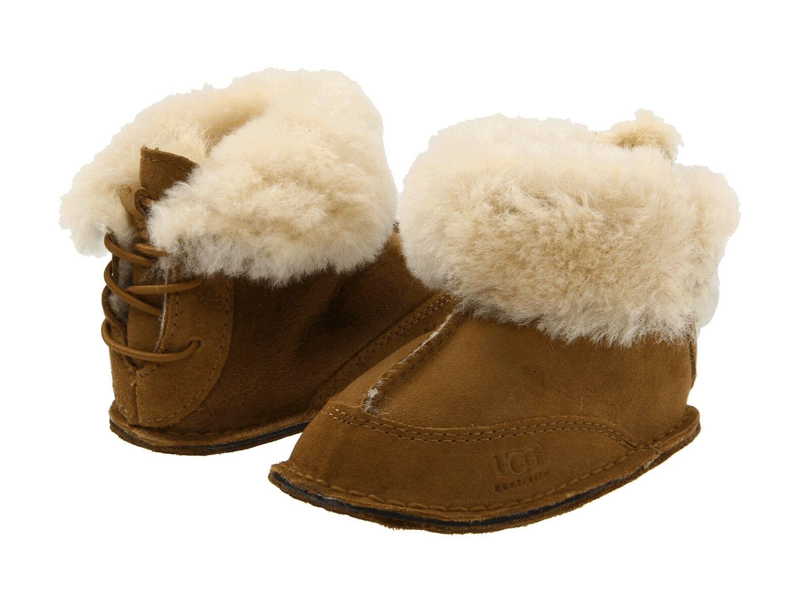 c56ac803af3 Baby Infant Toddler UGG Australia 5206 Leather Shearling I Boo BOOTS Medium