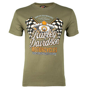 Sturgis-Harley-Davidson-Men-039-s-Champion-Fatigue-Green-T-Shirt