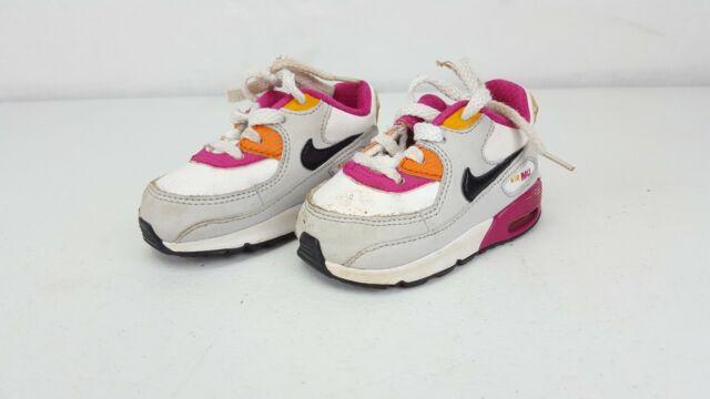 Nike Air Max 90 Toddler Shoes Child PinkWhite sz 4C Free Shipping