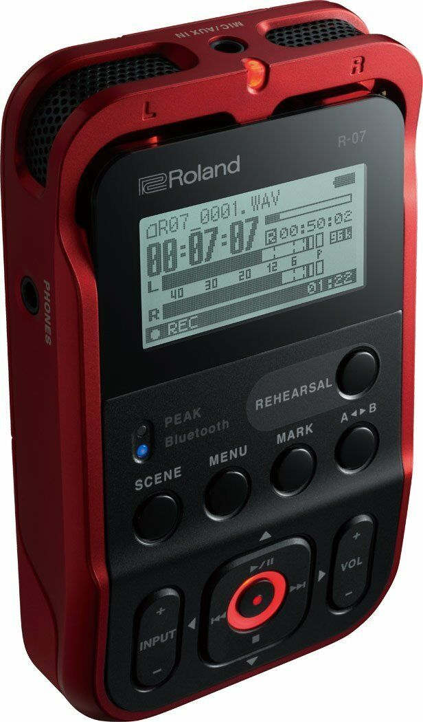 Roland R-07 RD rot Handy Portable Recorder Digital Audio Linear PCM