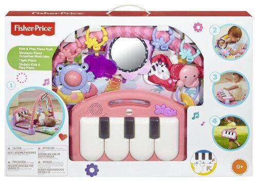 Mattel Fisher Price Rainforest Piano-Gym Musik Lichtern Pink Krabbeldecken Spiel