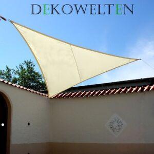 Pro Garden Tarp Sonnensegel Schattentuch Dreieckig 3,6x3,6x3,6m oder 5x5x5m