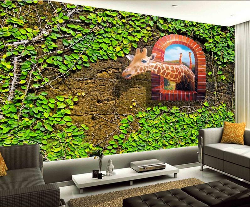 3D Essen Gras Giraffe 7 Tapete Wandgemälde Tapete Tapeten Bild Familie DE Summer | Erste in seiner Klasse  | Lebhaft  | Öffnen Sie das Interesse und die Innovation Ihres Kindes, aber auch die Unschuld von Kindern, kindlich, glücklich