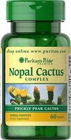 Nopal Cactus Complex Prickly Pear Psyllium Seed Husk Supplement 400mg 60 Tablets