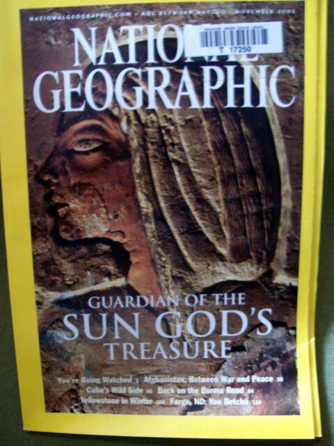 National Geographic - November, 2003 Back Issue SUN GOD'S TREASURE