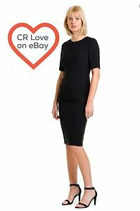 CR-LOVE-SZ-XL-16-NEW-COUNTRY-ROAD-ZIP-DRESS-IN-BLACK
