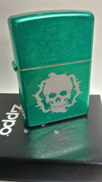 Zippo Requiem Skull Changeling The Lost 2007 green New in labeled box 300 made