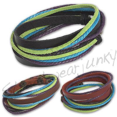 ★Wickelarmband Surfer Style Armband Leder Unisex Bracelet Leather Beach C303★