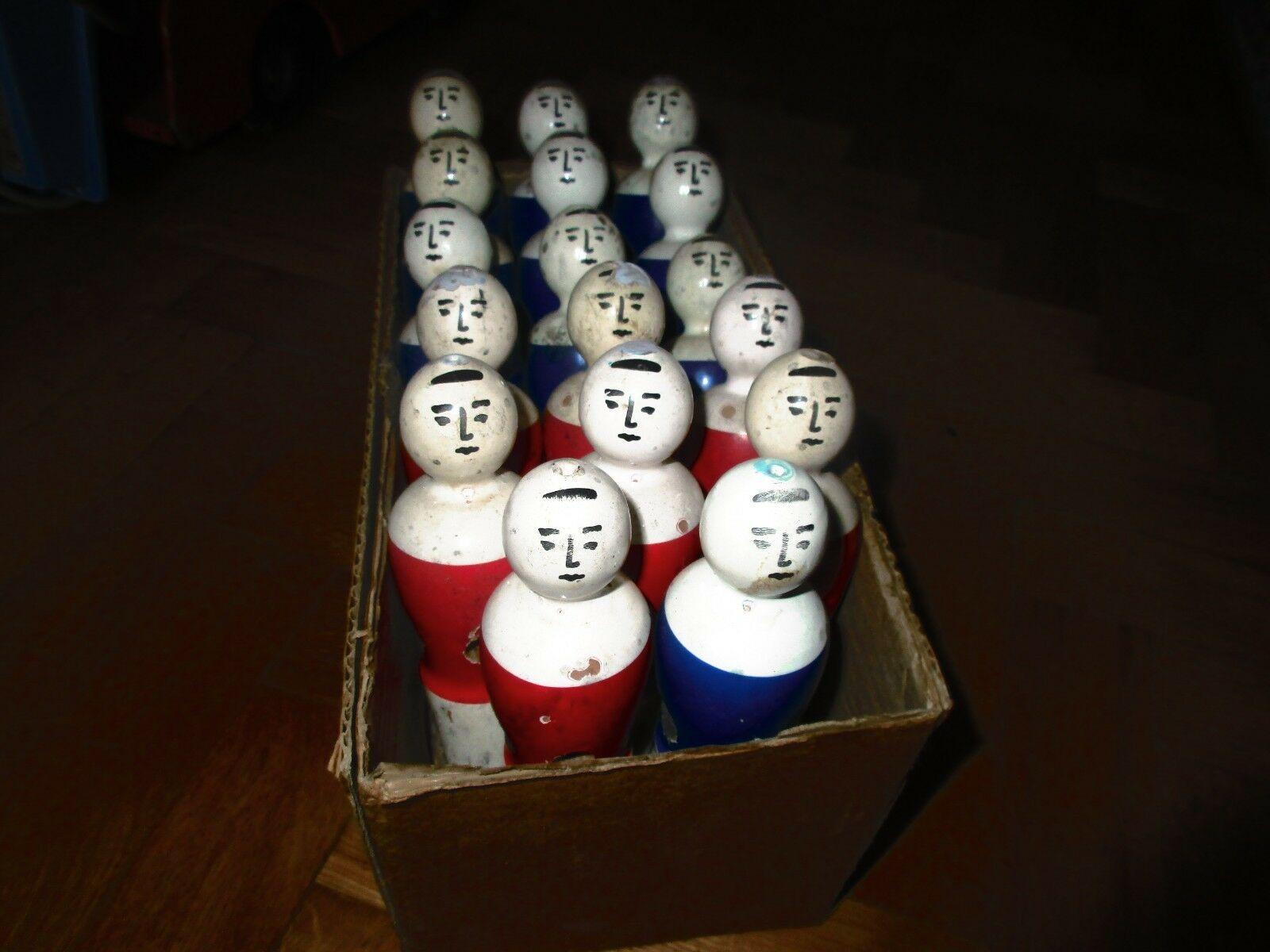 UNIQUE VINTAGE GREEK LOT WOODEN FOOTBALL PLAYERS FROM GAME TABLE 60s