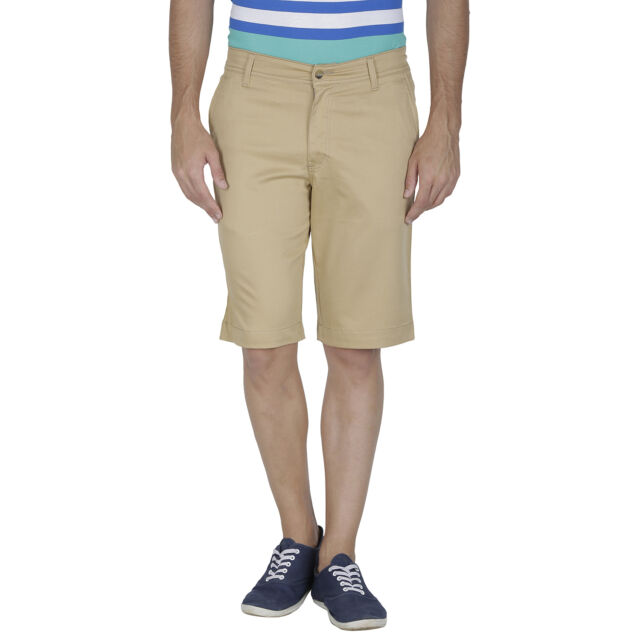 Inspire Khaki Cotton Shorts
