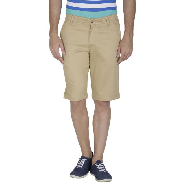 Inspire Khaki Cotton Shorts