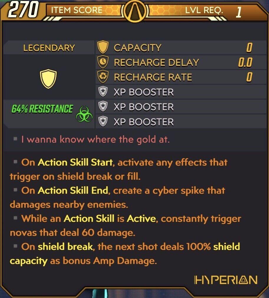Borderlands 3 Xbox/PC - Modded Shield ASS ASE ASA Corrosive