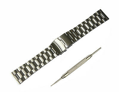 22mm Stainless Steel Metal Watch Band Strap + Tool For LG Watch Urbane W150