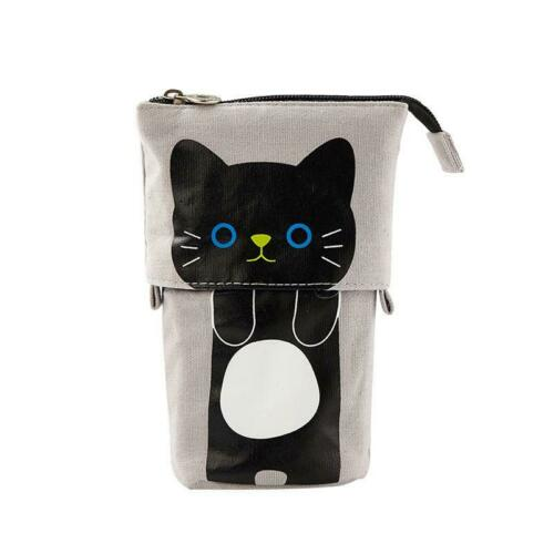 Flexible Cat Pencil Case Fabric Cute Box Bags Gift School Stationery Supplies