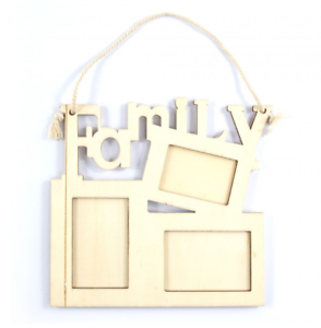 Family Frame Hanging Picture Frame Wood Decorate Yourself