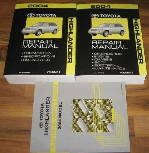 2004 Toyota Highlander Service Manual Set Base  Limited W