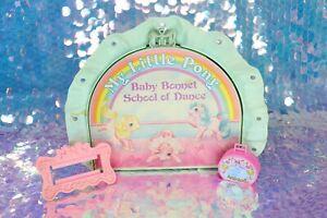 Vintage My Little Pony BABY BONNET SCHOOL OF DANCE Parts Ballet Case G1 MLP L040