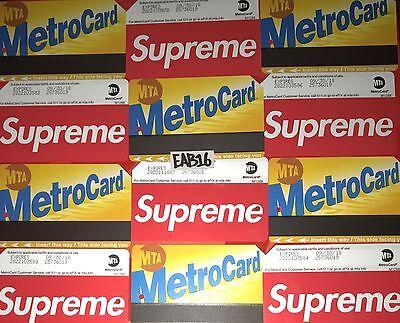 Subway Map To Supreme Store.Supreme Metro Card Nyc Subway Mta Train Pass New York City Metrocard Ss17 X Ebay
