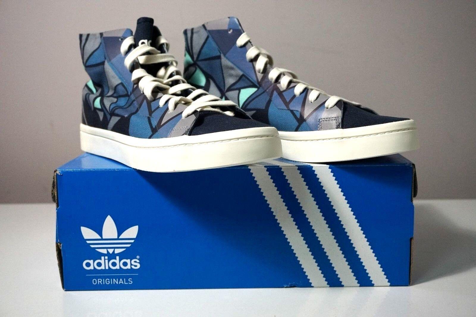 Adidas Originals Court Vantage Mid Lace Up  Geometric Wouomo scarpe S78851 Dimensione 9  spedizione e scambi gratuiti.